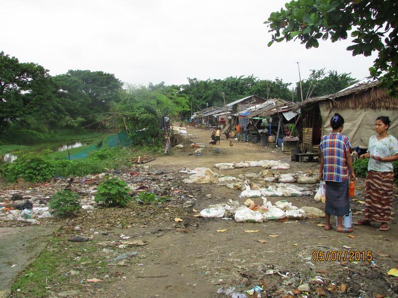 Das Wohnviertel: Von Infrastruktur und Lebensqualität ist hier eher wenig zu sehen.
