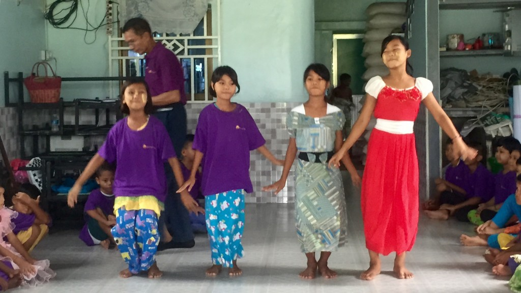 Empfang im Day Care Center - Yangon