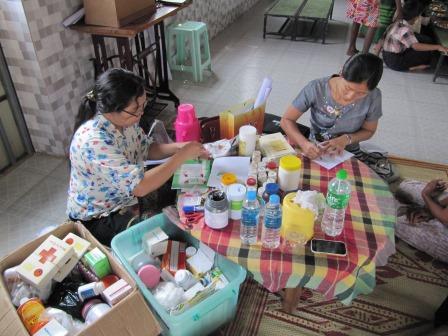 Vorbereitungsarbeiten für die Gesundheitsuntersuchung