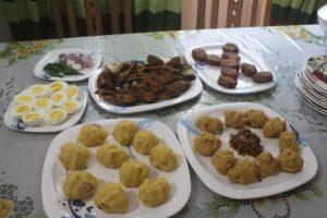 Das traditionelle Essen zum Neujahrsfrühstück
